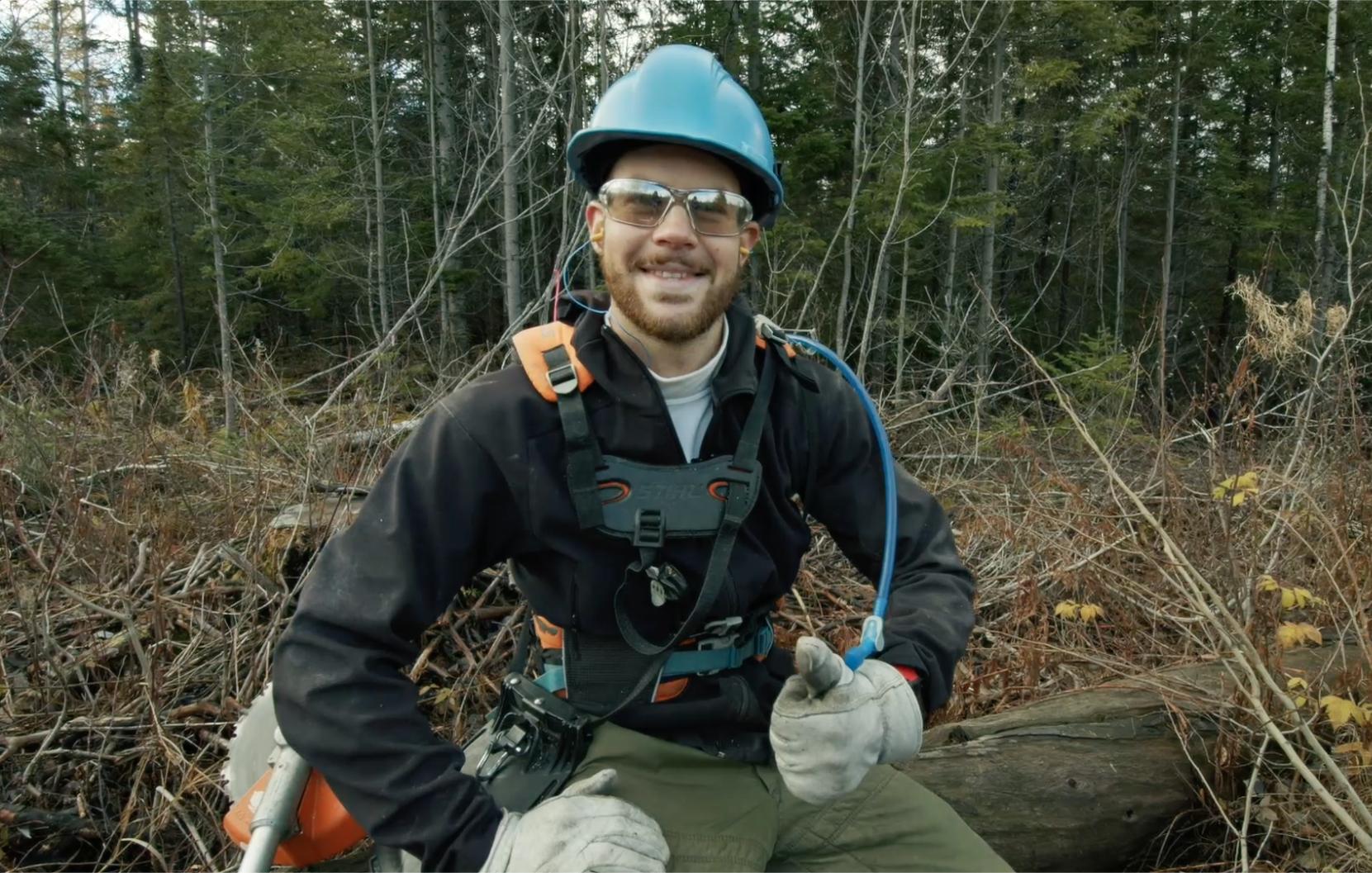 Xavier Bolduc projet emploi forestier CRDBSL
